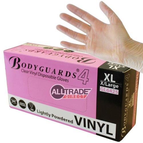 bodyguards-4-6425-boite-de-100-gants-jetables-en-vinyle-legerement-poudres-xl