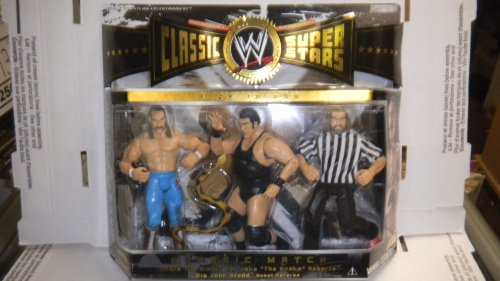 WWE Classic Super Stars Classic Pack 3 Pack - Andre the Giant, Jake the Snake Roberts, Big John Studd by Jakks