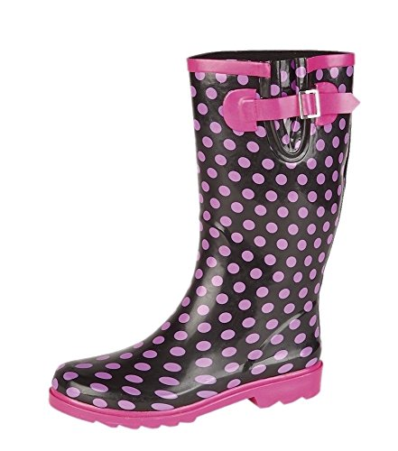 Stormwells Ladies Wide Calf Wellies Wellington Boots Plus Extra Comfort Memory Foam Insoles