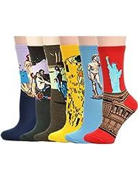 UClever Calcetines para Hombre, Pintura Famosa Medias Algodón Calcetín
