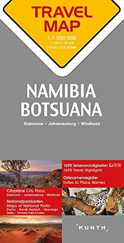 Descargar Libro Carte de voyage Namibie, Botswana, Afrique du Sud 1 : 1,5 Mio de Collectif