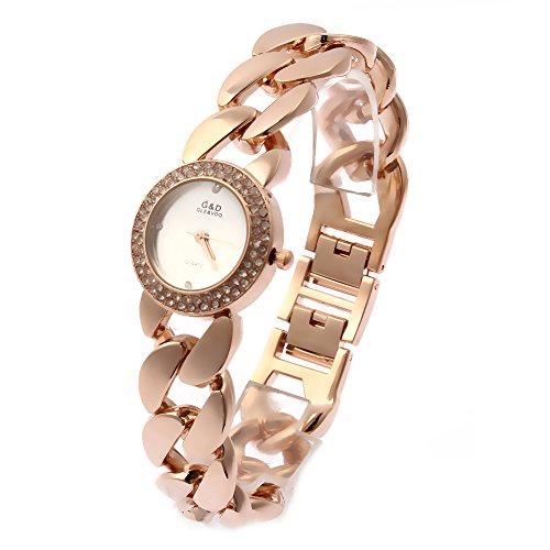 Sheli Quarz Rosegold Diamant Uhr des Mädchens für Frauen, die DatierungsArbeit Wedding Sind