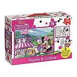 Jumbo Spiele 19670 Disney Minnie Puzzle und Colour Medium