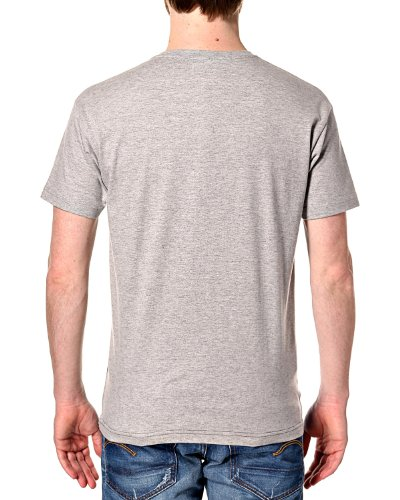 HUMÖR -  T-shirt - T-shirt con collo a U  - Uomo Grigio chiaro