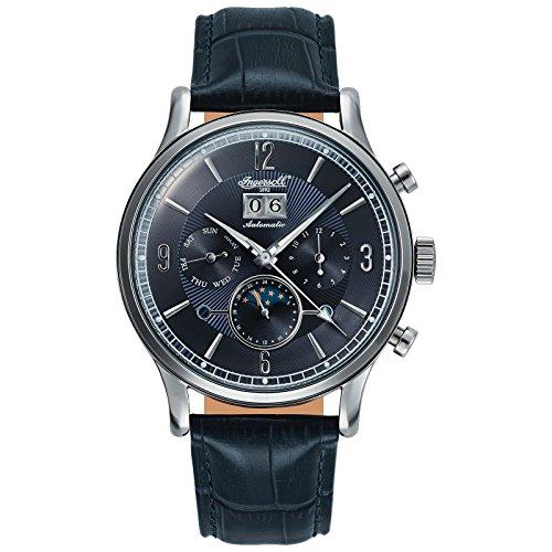 Ingersoll Herren Analog Automatik Uhr mit Leder Armband IN1404BL
