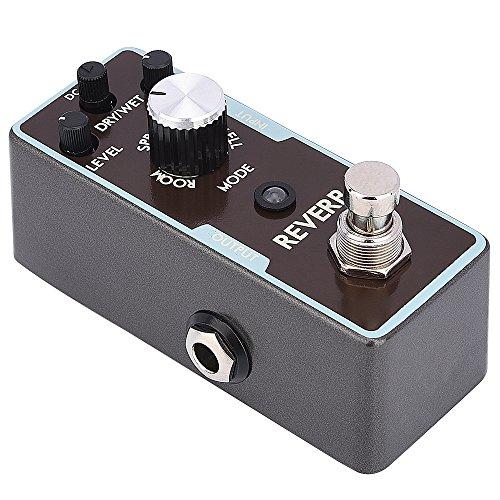 IRICH Mini Reverb Gitarre Effektpedal, True Bypass Aluminium E-Gitarre Bass Effektpedal mit Tasche