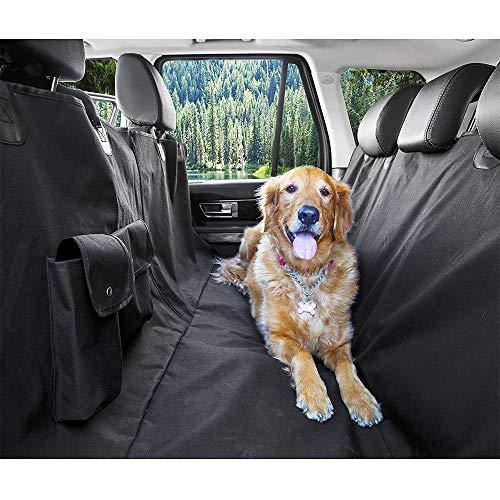 UNIIKE Dog Seat Covers Sedile Posteriore con Mesh visiva Finestra Cane Car Hammock Impermeabile Anti-Scratch Pet Dog Antiscivolo Auto Coprisedili per Auto Camion SUV