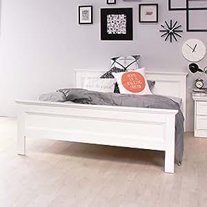 stockholm landhaus bett 140x200 in weiss k che haushalt. Black Bedroom Furniture Sets. Home Design Ideas