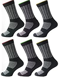 6 Pairs Mens Kato Work Socks Size 11 - 14 Hard Wearing Warm Cushioned Support