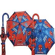 Ombrello ULTIMATE SPIDER-MAN bambino lungo automatico blu Ombrello lungo automaticoSpider-Man per bambini COMPOSIZIONE 8 stecche antivento manico in plastica colore principale blu materiale impermeabile MISURE altezza 68cm diametro 88cm