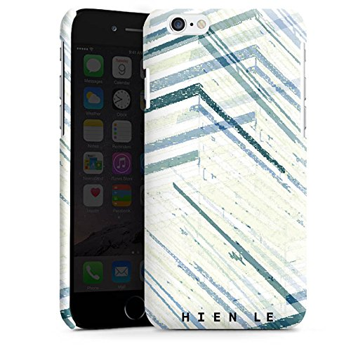 Apple iPhone 4 Housse Étui Silicone Coque Protection HIEN LE Bandes Motif Cas Premium brillant