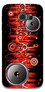 The Racoon Grip printed designer hard back mobile phone case cover for Samsung Galaxy S6 Edge. (Let the Mu)