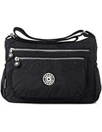 Women's Multi Pocket Casual Tote Purse Multi Pocket Casual Handbag Travel Bag Messenger Cross Body Bag
