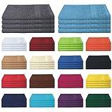 4er Pack zum Sparpreis, Frottierserie in 18 Farben und 8 Größen, 100% Baumwolle 500 g/m - 4er Pack Gästetücher (30x50 cm) - Farbe Apfelgrün