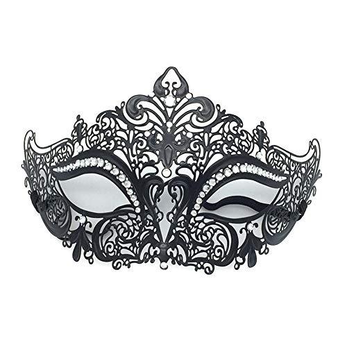JUNGEN Damen Halbgesichtsmaske Venedig Maske Maskerade Augenmaske für Party Karneval