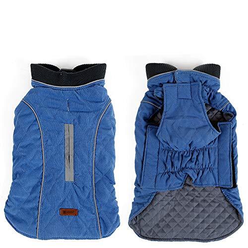 ubest Hundemantel Wasserdichte Winterjacke, Warm Weste Reflektierende Hundejacke für Winter und kaltes Wetter, Blau, XS