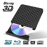 Fusutonus Lecteur Blu-Ray Externe,Graveur de DVD Portable CD 3.0 Portable USB, Lecture de disques Blu-Ray 3D, Mince et Ultra-Rapide pour WIN98 / ME / 2000 / XP, Vista, WIN7, WIN8, Mac OS 8.6