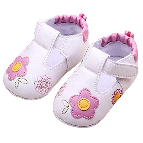 Baby Schuhe Auxma Für 5-14 Monate Baby-Mädchen-nette warme weiche alleinige Krippe-Schuh-warme Knopf-Ebenen-Baumwollblumen-gedruckter Stiefel (8-11 M) (Knit Lammfell Stiefel)