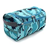 IGNPION Travel Wash Bag Hanging Men's Toiletry Bag Shaving Grooming Accessory (Camouflage)