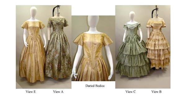Ladies Ball Gown 1840-1863 Civil War Dress 6-34 Laughing Moon Sewing Pattern 117