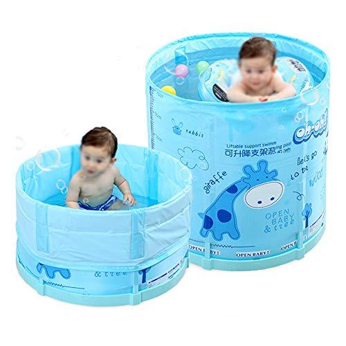 JTYX Kinder Aufblasbare Schwimmbad Faltbare Multifunktions Dicke Isolierung Home Interior Ultraleicht Tragbare Baby-duschwanne, Blue,M