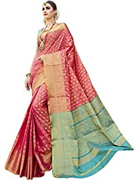 Ethnicjunction Silk Cotton Saree (Ej1178-07980, Dark Pink, Free Size)