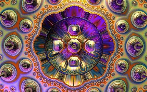 Adultos Puzzle 1000 Piezas De Madera Niño Rompecabezas-Mandala Morado-Juego Casual De Arte Diy Juguetes Regalo Interesantes Amigo Familiar Adecuado