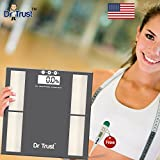 #4: Dr. Trust (Usa) Smart Body Composition Monitor, Fat Analyzer And Weighing Scale (Dr Trust Digital thermometer Free) - BFA-04 (Grey)