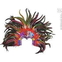 Brasil Tropicana plumas coloridas tocado