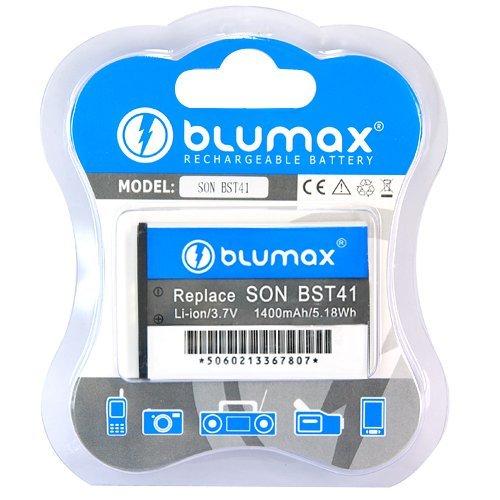 Blumax Li-Ion Akku für Sony Ericsson BST41/Aspen M1i/Xperia X1/X2/X10 Play (3,7V, 1400mAh)