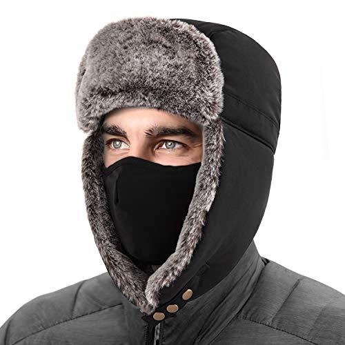 Unigear Gorro de Invierno Térmico Gorro de Aviador Caliente Orejeras Mascara Sombrero de Esquí Ciclismo Senderismo A Prueba de Viento