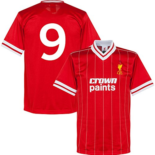 1982 Liverpool Home Retro Trikot + No.9 - L (Retro Home Trikot)