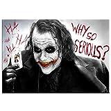 CNIAO 5D DIY Peinture diamant Batman Film Joker 3D Point de croix Broderie diamant Mosaïque Maison Decor 50x70cm...
