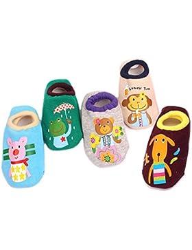FYGOOD 5er Set Baby ABS Antirutsch Socken