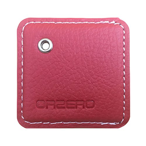 Orzero Leather Case For Tile Mate/Tile Pro Style (Not For Tile Pro Sport) Finder with Keychain/Key Ring Away from Scratch Wet Dirty (Tile Mate or Tile Pro Style Not Included) (Red)
