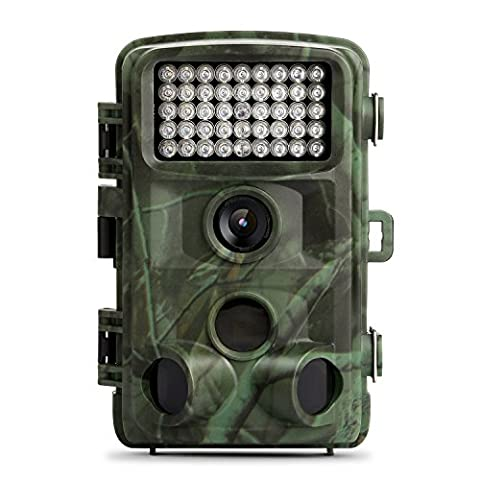 TEC.BEAN Trail Camera , 12MP 1080P Wild Game Hunting Camera With 120 Degree Wide Angle no glow Infrared Flash Night Vision , 2.4inch LCD Screen , PIR Sensors , IP66 Spray Water Protected