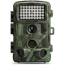 """TEC.BEAN Trailkamera Outdoor Kamera, HD 12MP 1080P 120 Grad Weitwinkel Infrarot Nachtsicht, 2,4"""" LCD Display, Wasserdichte IP66 Wild Wald Innovation Kamera"""