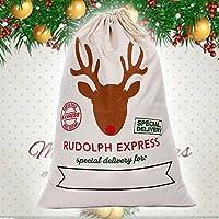 Retro Weihnachtsmann Geschenkesack Weihnachtssack Wäschetasche Wäschesack Geschenkbeutel