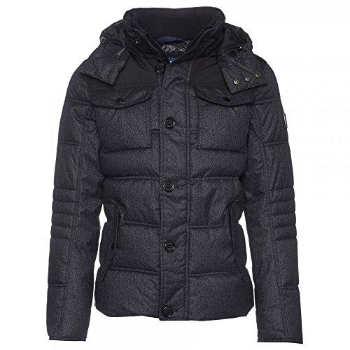 Tom Tailor Material Mix Puffer Jacket, Blouson Homme, Schwarz Noir