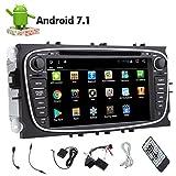 Double Din Android 7.1 Octa de base DVD de voiture de tous les médias Lecteur avec écran tactile capacitif double Din Headunit Navigation GPS stéréo voiture au tableau de bord Bluetooth Auto Radio Récepteur audio Soutien Volant / WiFi / 1080P / link Miroir 3 / 4G / OBD2