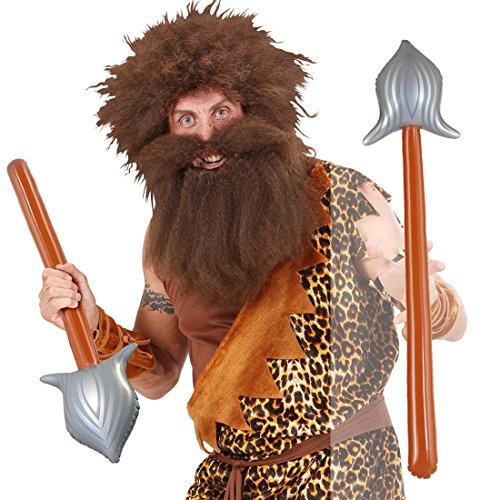 Aufblasbarer Speer Spieß 86 cm Lanze aufblasbar Waffe Mittelalter Harpune Gladiator Krieger Zubehör Indianer Kostüm Accessoire