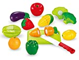 #3: Sunshine Realistic Sliceable 12 Pcs Fruits and Vegetables Cutting Play Toy Set