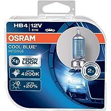 Osram 9006CBI-HCB Cool Blue Intense HB4 Lámpara Halógena de Faros, 4200K, 2 piezas