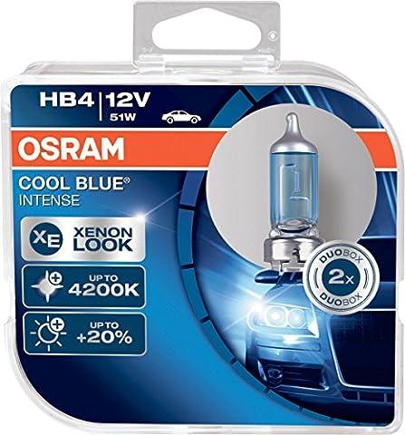 Osram 9006CBI-HCB HB4 Halogen Headlamp Bulb 4200K, Cool Blue Intense, Double Pack
