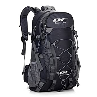 Diamond Candy Outdoor Hiking Climbing Backpack Daypacks Waterproof Mountaineering Bag 40L Unisex High-capacity Travel Bag