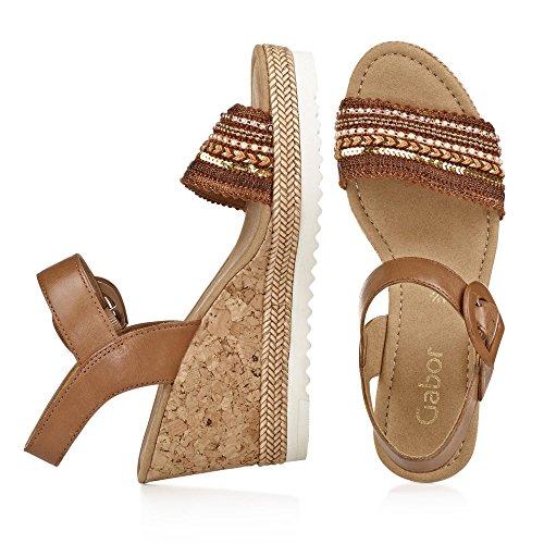 Gabor 65.792.24 cognac sandales Damen braun