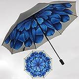 SX-ZZJ Regenschirm Winddicht Sonnenschirme UV-Regenschirme Damen Doppel-Sonnenschirme (Farbe : F)