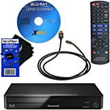 Panasonic DMP-BD93 Smart Network Blu-ray Disc Player With Wi-Fi + Remote Control + Xtech Blu-Ray Disc Laser Lens Cleaner + Xtech High-Speed HDMI Cable With Ethernet + HeroFiber Gentle Cleaning Cloth