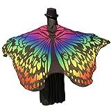 MRULIC Erwachsene SchmetterlingsflüGel Damen Nymphe Pixie KostüM ZubehöR Weihnachten Trenchcoat Im Freien Drachen Steigen Lassen Coat(E-Gelb,197 * 125CM)