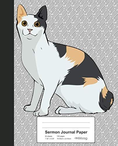 Sermon Journal Paper: Book Japanese Bobtail Cat (Weezag Sermon Journal Paper Notebook, Band 218) - Journal Japanese